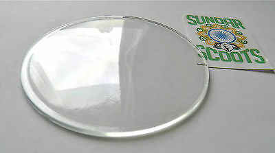 80mm PERSPEX LENS - SUITABLE FOR LML VESPA SCOOTERS. CLEARANCE LINE
