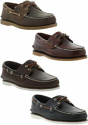 Timberland Classic 2 Eye Boat Shoe Mens Leather Deck Shoes Size UK 7-11