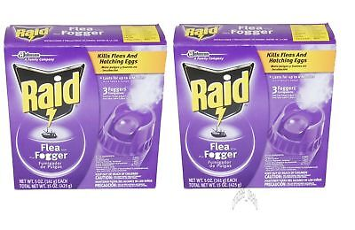 Raid 6 Pack 5oz each Kills Fleas and Eggs Flea Killer Plus Foggers Total 30 oz