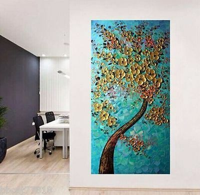 1pc MODERN ABSTRACT HUGE WALL ART OIL PAINTING ON CANVAS(no frame)48""