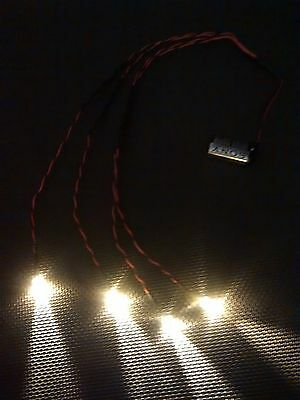 Scalextric / Model Railway Building x4 LED Light Kit 10mm Warm White 500mm Wires
