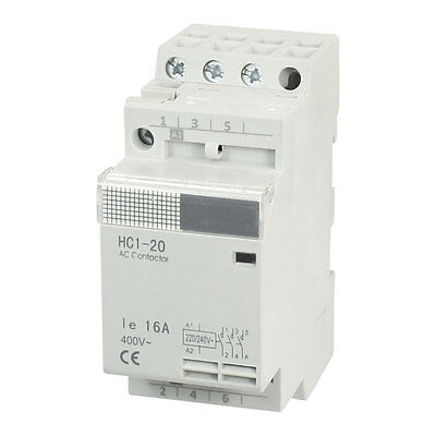 220/240V Coil 16A Three Poles 3P Household Module AC Contactor