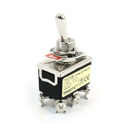 380V 15Amp Latching Actuator DPDT ON/OFF/ON Three Position Toggle Switch