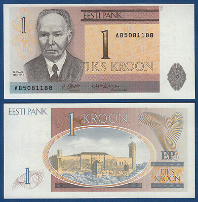 ESTLAND / ESTONIA 1 Kroon 1992  UNC  P.69