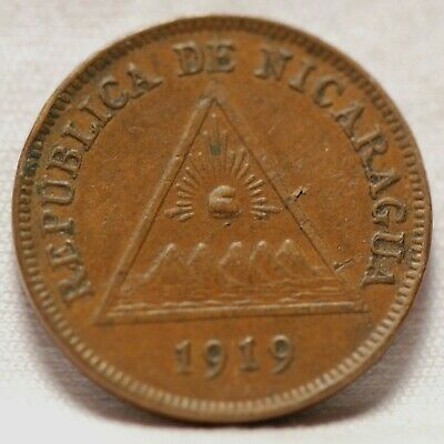 Nicaragua, 1919 Centavo, Extremely Fine