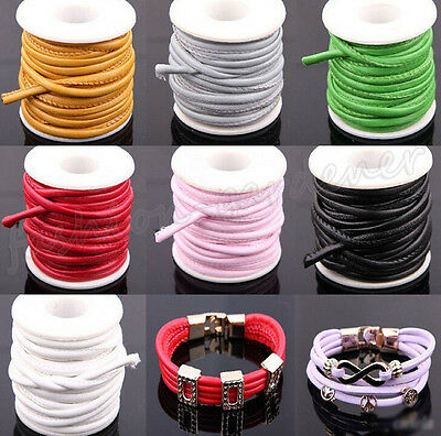 1/5M Snake Skin Faux Leather Cord PU Thread Wire Jewelry Bracelet Making DIY 6mm