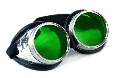 PAWSTAR Goggles Metal Green Punk Steampunk Goth Halloween Costume Space 5412