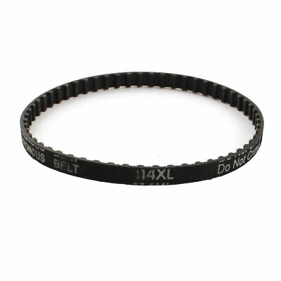 "XL-114 11.4"" Girth 57-Teeth Black Rubber 6.4mm Width Synchronous Timing Belt 025"