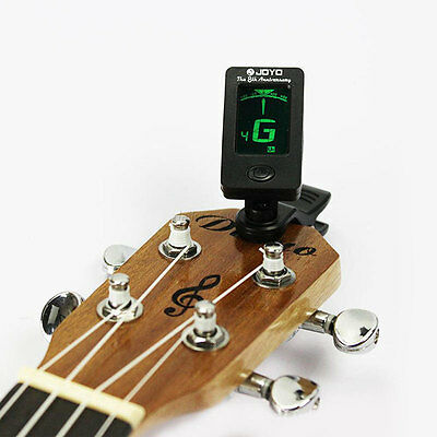 Acoustic Guitar Bass Violin Ukulele Chromatic Electronic Tuner LCD Screen W/Bat