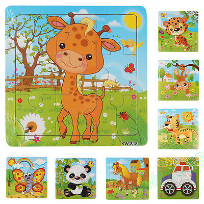 Wooden Kids Jigsaw Toys For Children Education Learning Training Puzzles Toys