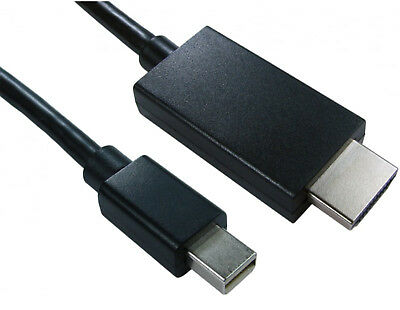 2m Mini Display Port DP to HDMI Adapter Cable for Monitor LCD TV Projector Mac