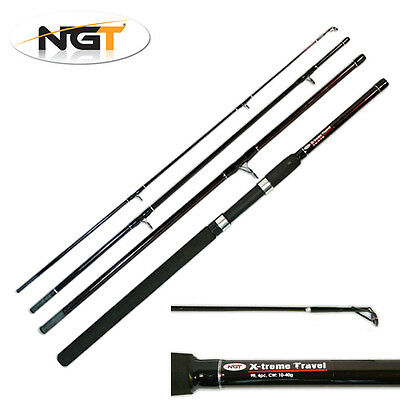 NGT X-Treme 9ft 4 Piece Travel Fishing Rod Coarse General Sea Spinning Tackle