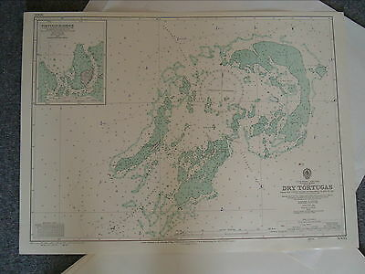 Vintage Admiralty Chart 3005 FLORIDA REEFS - DRY TORTUGAS 1952 edn
