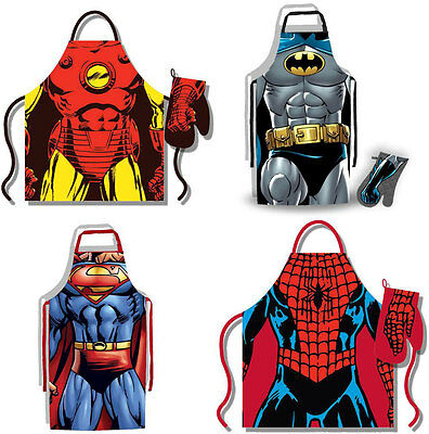 Marvel/DC Comics: Costume Apron And Oven Mitt Set - New & Official Iron Man
