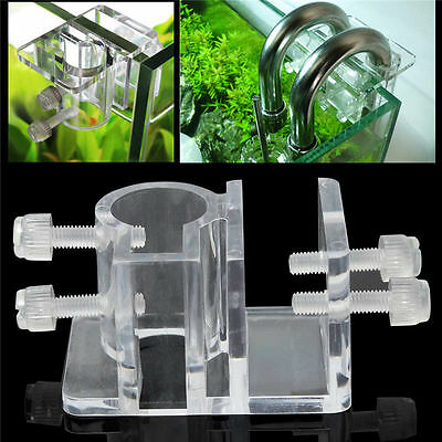 Clip Pince Acrylique Trous Fixation Support Aquarium Citerne Tube d'eau 20mm