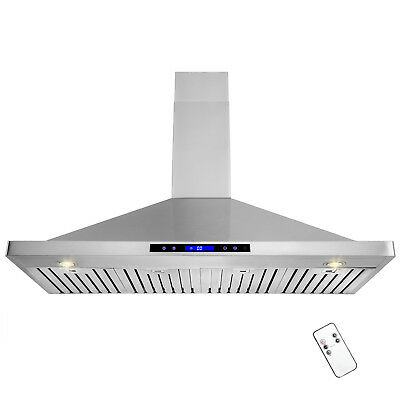 """48"""" Stainless Steel Wall Mount Touch Control Range Hood Kitchen Vent Fan"""