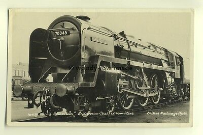 ry361 - British Railways Engine no 70045 Lord Rowallan - postcard
