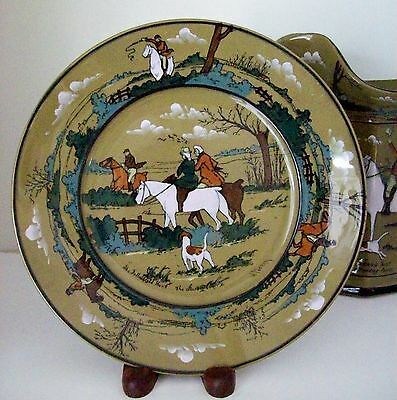 Antique Buffalo Ware by Deldare~Plate~The Fallowfield Hunt-The Start~1909~Signed