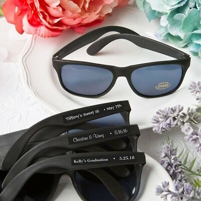 100 Personalized Cool Black Sunglasses Wedding Shower Party Favors