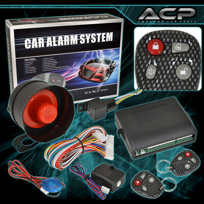 Car Alarm Protection Security System Entry Siren Carbon 2 Remote Control Ford