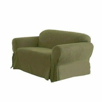Chezmoi Collection Soft Micro Suede Slipcover Sofa/Couch, Sage Green