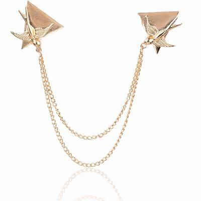 Dove Chain Bird Coat Statement Chain Brooch Beauty Pin Breatpin Collar Tips