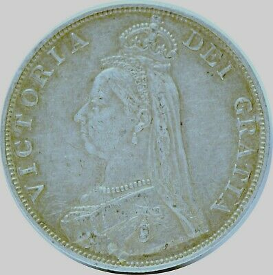 Great Britain, 1889 (Arabic 1) Double Florin, silver, Extremely Fine