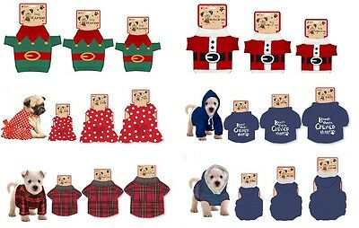 Pet Dog Puppy Outfit T-Shirt Fancy Dress Hoody Jumper Clothes Xmas Gift Costume