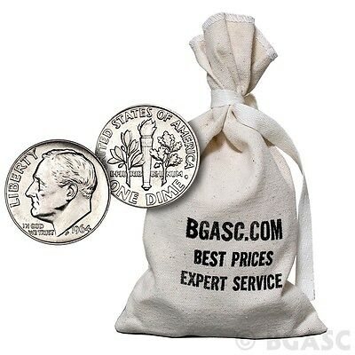 90% Silver Coins $100 Face Value Bag in 1964-Prior Junk Silver Dimes