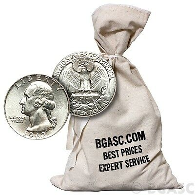 90% Silver Coins $500 Face Value Bag in 1964-Prior Junk Silver Quarters