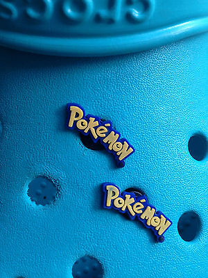 2 Pokemon Badge Shoe Charms For Crocs & Jibbitz Wristbands. Free UK P&P.