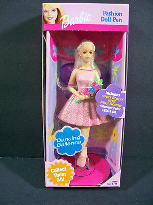 New Barbie Doll  2001 Fashion Doll Pen Dancing Ballerina W/stand