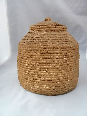 "Native American Weave Covered Bowl  Very Nice Design. Approx 8"" W X 8"" T"