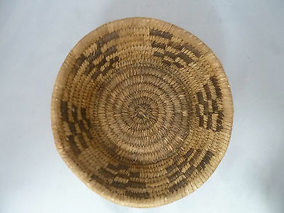 "Native American Weave Basket PIMA BOWL Very Nice Design. Approx 3"" T x 6.75"" W"