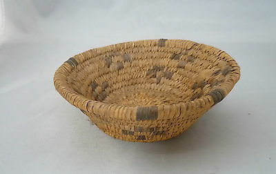 "Native American Weave Basket PIMA BOWL Very Nice Design. Approx 2"" T x 5.5"" W"
