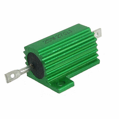 25W 27 Ohm 5% Chassis Mounted Aluminum Clad Resistor Green