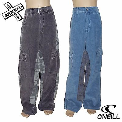O'neill 'Fabric Mix Pant' Boys Combat Trousers Cord Age 10 14 Surf Bnwt Rrp £50