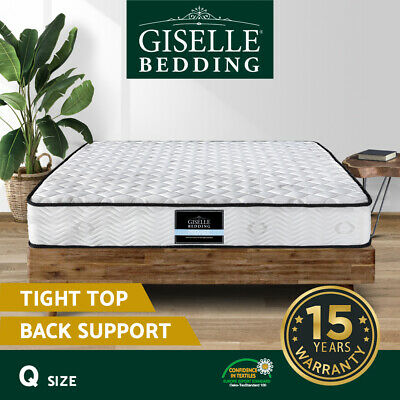 Luxury Queen Size Mattress Pocket Spring High Density Foam Firm Support