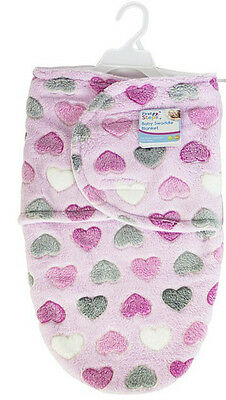 """""""First Steps"""" Baby Swaddle Blanket Super Soft Great For Keeping Babies Warm"""