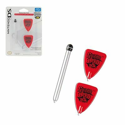 Nintendo DS Lite Guitar Hero On Tour Stylus 3 Pack Power A New (2 Pick 1 Mic)