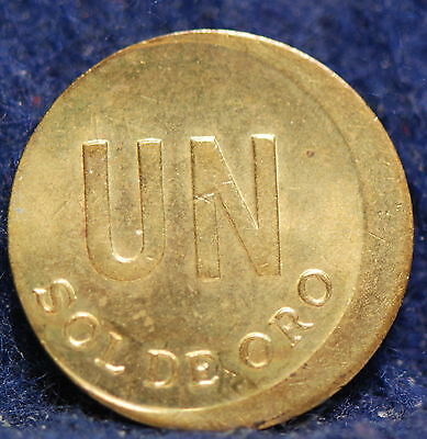 Peru, 1975 Sol, Error 8% Struck Off Center, Uncirculated