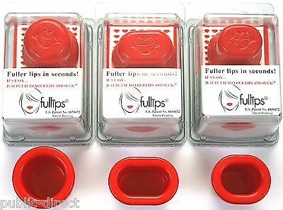3 Pack Fullips Lip Plumper Small Oval, Medium, & Large Round Plumping Plump Tool