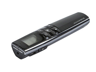 Rechargeable Multimedia Green Laser Presenterwith LCD Display 2.4GHz - Black