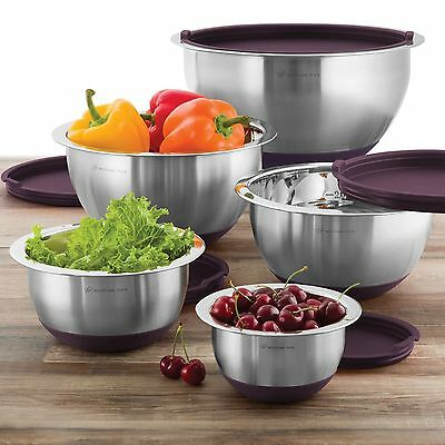 Wolfgang Puck Professional Series 10 PC. Stainless Steel Mixing Bowl Set & Lids