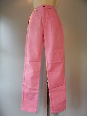 Nos New Wave 1980 90s Lee Rider Pink Trouser Pants, Retro Jeans Girls Vintage 14