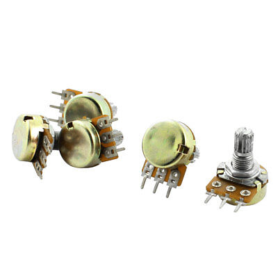 Top Adjustment Single Turn Split Knurled Shaft Potentiometer B10K 10K Ohm 5pcs