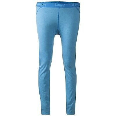 Bergans Fjellrapp Tights Damen lange Merino Funktionshose bright sea blue