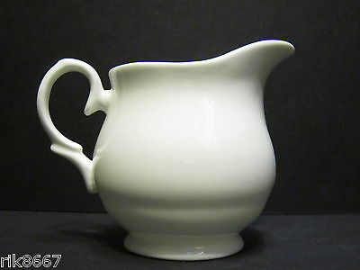 ¼ Pint Cream Jug Amber Shape white  English Fine Bone China By Milton China