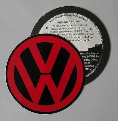 Magnetic Tax disc holder fits any volkswagen vw golf polo passat touran red m up
