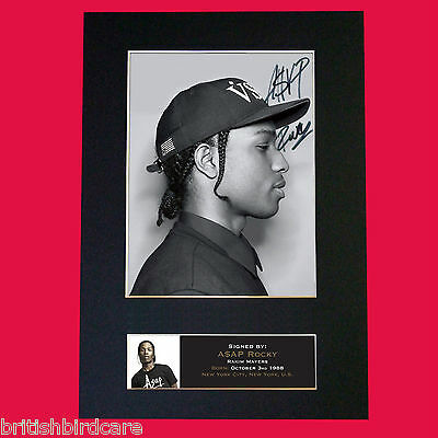 A$AP ROCKY Signed Autograph Mounted Photo Reproduction PRINT A4 583